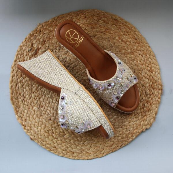 Fuscia Wedge Heels